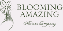 Blooming Amazing Flower Company Logo